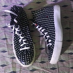 Converse Red Limited Edition Polka Dot Heart Shoe